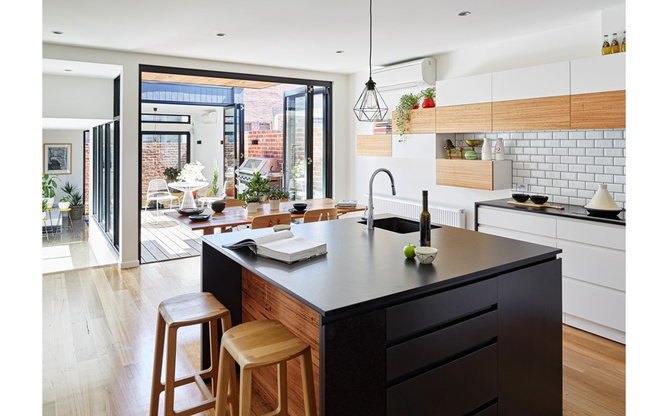 Brunswick East kitchen and deck