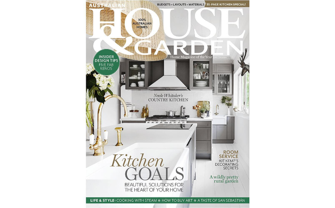 Australian House & Garden cover March 2019