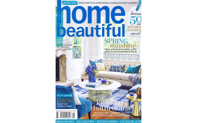 Home Beautiful September 2015 cover