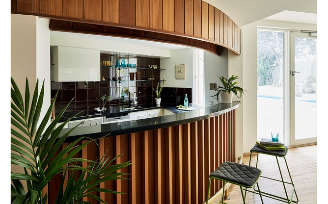 Toorak kitchen overview stools